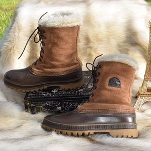 SOREL Leather Weatherproof Boots with Lining Sz 9